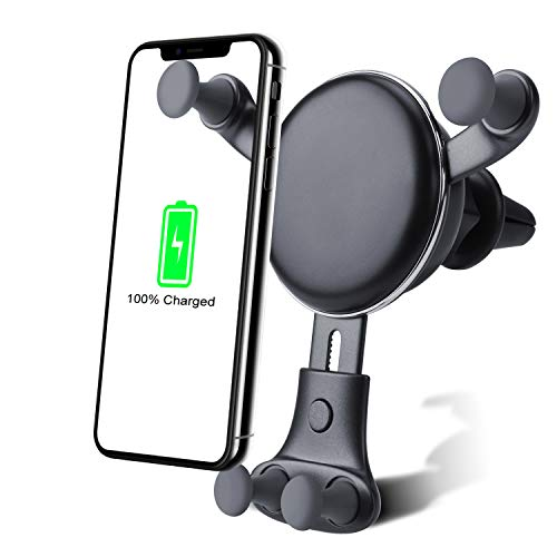 Wireless car Charger Mount-Adjustable Bracket-Gravity System-Fast Charging-Compatible with iPhone Xs Max XS X XR 8 Plus 8 Samsung Galaxy Fold S9 S9 S8 S8 S7 Edge S7 S6 Edge