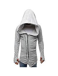 Apparel Sport Outwear,Mens Autumn Winter Casual Zipper Long Sleeve Pullover Sweatshirt Hoodie Coat Top for Men Teen Boys
