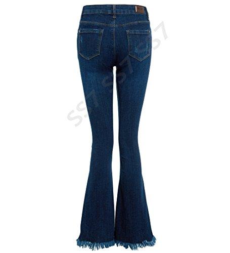 Indigo NEUF JEANS Jean 8 14 jeans Fit femmes 12 vas 6 taille ourlet SS7 bootcut 10 brut Slim 0qanwT