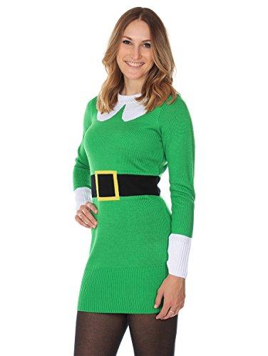 Womens Ugly Christmas Sweater Dress.Tipsy Elves Women S Ugly Christmas Sweater Green Elf Sweater Dress