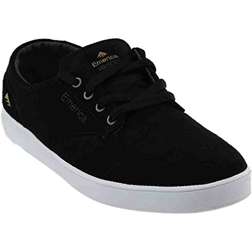 Emerica Men's The Romero Laced Skateboard Shoe, Black/White, 9 M US