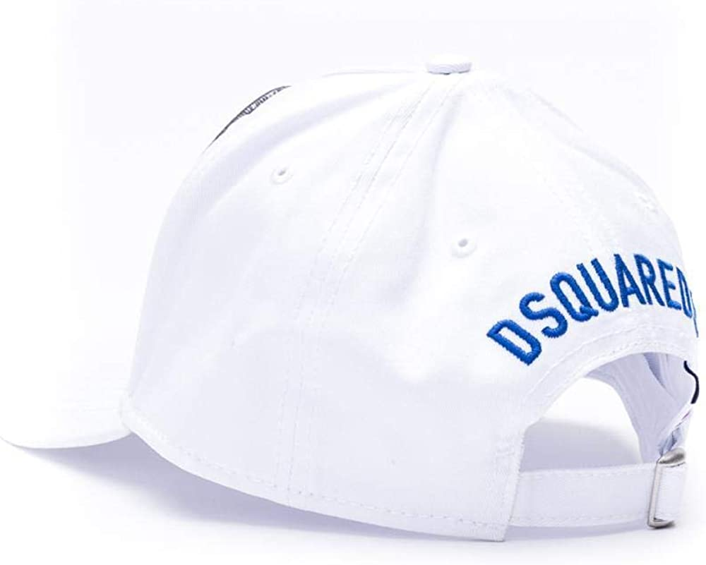 DSQUARED2 Mens Accessories White Pepsi Patch Baseball Cap SS2020