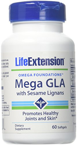 Life Extension Mega GLA with Sesame Lignans, 60 softgels. Pack of 1 Bottle.