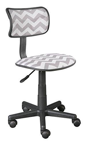 Urban Shop Swivel Mesh Chair, Grey