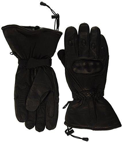 Shaf International Men's Waterproof Leather Gauntlet Gloves (Black, XXX-Large) ()