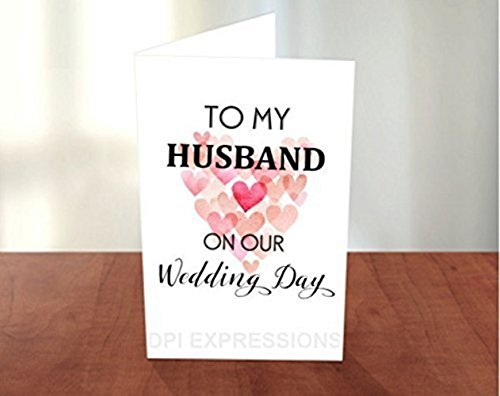 Amazon to my husband on our wedding day hearts greeting card to my husband on our wedding day hearts greeting card wedding day note card m4hsunfo