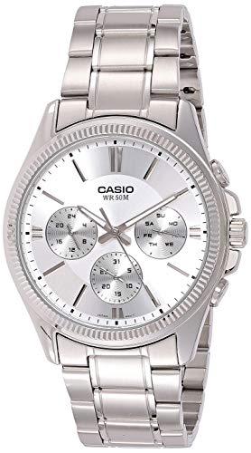 Casio Enticer Men Analog White Dial Men #39;s Watch   MTP 1375D 7AVDF A837