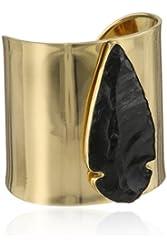 Charles Albert Obsidian Arrowhead Cuff Bracelet