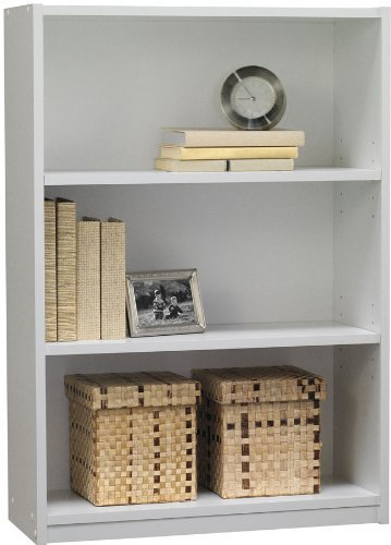 - Ameriwood 3-Shelf Bookcase, White Stipple