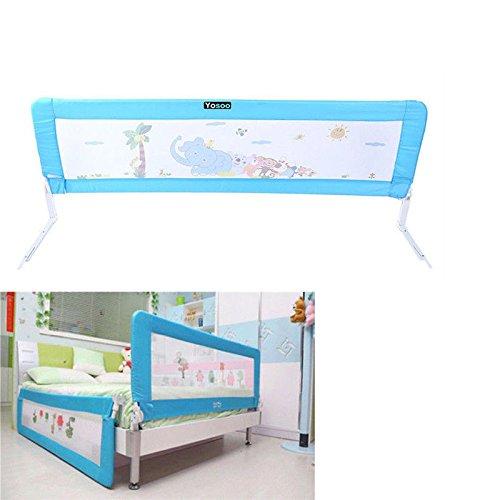 150cm/180cm Barandilla de La Cama Guardia de Seguridad para Niños, Barandilla Plegable de La Cama Infantil (Azul, 180cm): Amazon.es: Bebé