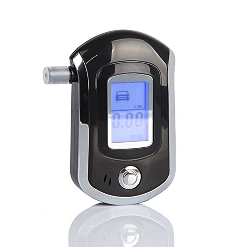 Breathalyzer,Portable Warning Digital Breath Alcohol Tester for Drivers or Home use with 5 mouthpieces -