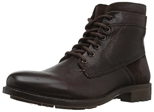 Steve Madden Men's Hardin Combat Boot, Brown Leather, 9.5 UK/US Size Conversion M US