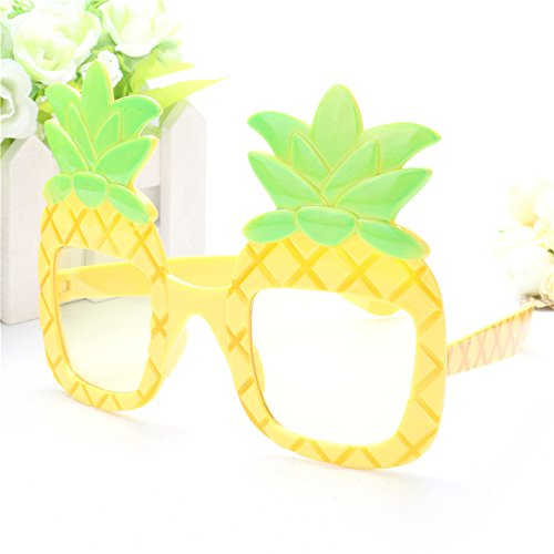 Funny Decorative Pineapple Beach Party Tropical Costumes Sunglasses Glitter Beach Glasses Gift Event Party Supplies - Sunglasses Event