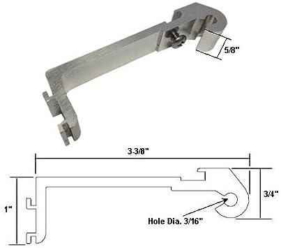 Enmarcado Swing para mampara de ducha cromado de repuesto soporte de giro: Amazon.es: Bricolaje y herramientas