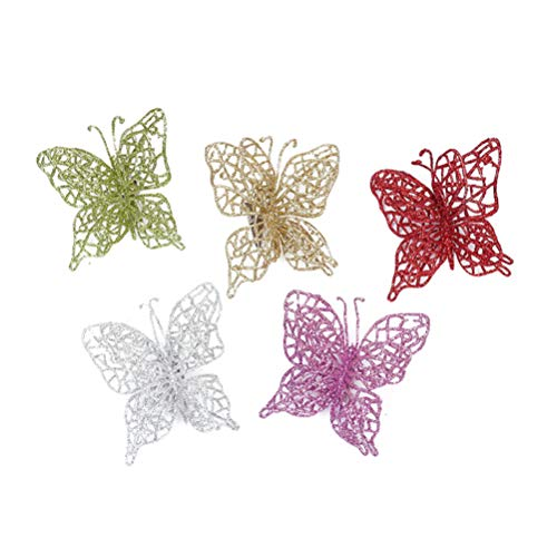 silver butterfly ornaments
