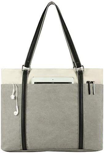 Laptop Lightweight Splice Canvas Handbag