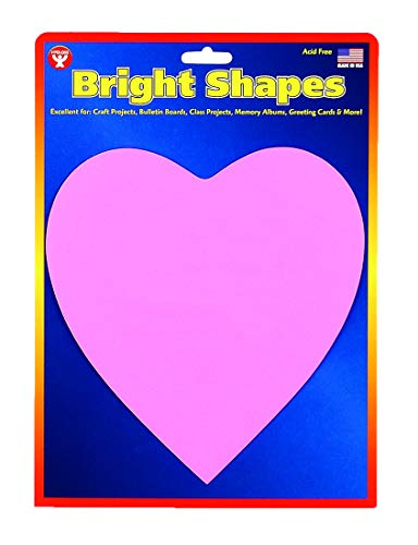 Hygloss Products 68050 6-inch, 40 Pieces Heart Shape Cut-Outs red, Pink and White