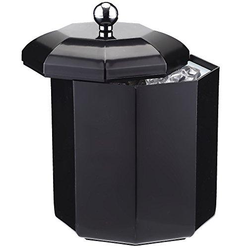 SMETA 2L Wine Champagne Chiller Ice Bucket Wine Cooler,Black