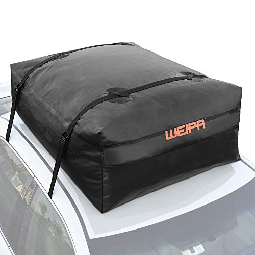 WEIPA Cargo Bag Waterproof Rooftop Fits All Cars Carrier Heavy Duty Luggage Storage Bag with 2 Reinforced Adjustable Straps for Extra Protection-Perfect for Car,Truck,SUV,Van,Rainproof,Expandable