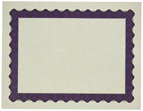 Certificate Border Templates - Great Papers! Metallic Purple Border Certificate, 8.5