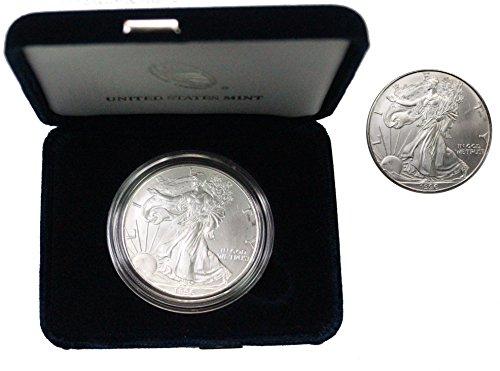 1996 American Silver Eagle $1 Brilliant Uncirculated in Capsule and Gift - 1996 Coin Eagle American Silver