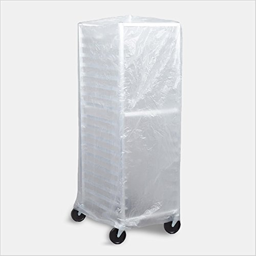 Tronex- Bun Pan Rack Covers, High Density Polyethylene, Satin Clear (Case of 50 Covers) Bun Pan Rack Cover