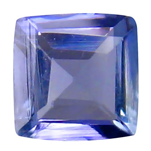 0.30 ct AAA Grade Princess Cut (4 x 4 mm) Bluish Violet Tanzanite Natural Genuine Loose Gemstone