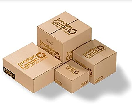 Pack 10 unidades Caja Cartón   Medidas 40 cm x 40 cm x 40 cm   Cartón Corrugado   Color Marrón: Amazon.es: Hogar