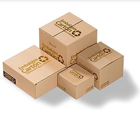 Pack 10 unidades Caja Cartón | Medidas 40 cm x 40 cm x 40 cm | Cartón Corrugado | Color Marrón: Amazon.es: Hogar