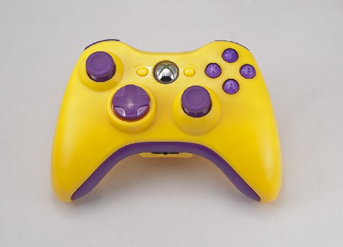 YELLOW/PURPLE Xbox 360 Modded Controller (Rapid Fire) COD Ghosts, MW3, Black Ops 2, MW2, MOD GAMEPAD (Purple 360 Controller Modded Xbox)