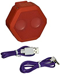 BOOMBOTIX Boombot REX Wireless Ultraportable Weatherproof Bluetooth Speaker for iPods, Smartphones, Tablets and Laptops (Coral red)
