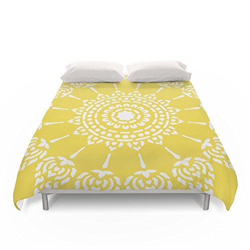 Society6 Thai Sun Yellow Duvet Covers Queen: 88'' x 88'' by Society6