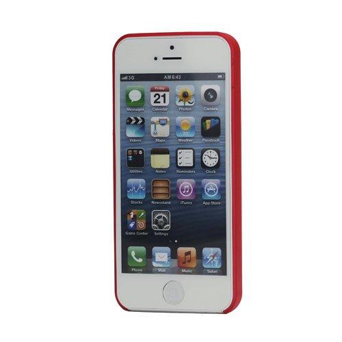 iProtect Schutzhülle iPhone 5 / 5S Hardcase 0,3mm dünn rot