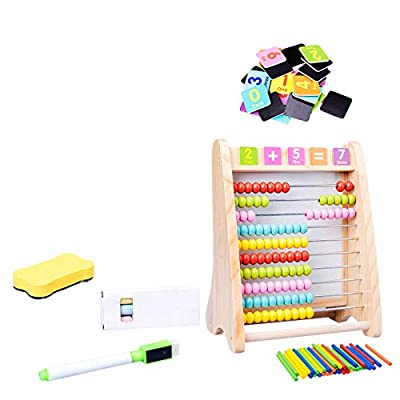 Kids Toys Wooden Toys Math Abacus Multi-Function Arithmetic Drawing Board Calculation Frame Educational Toys for Children: Toys & Games