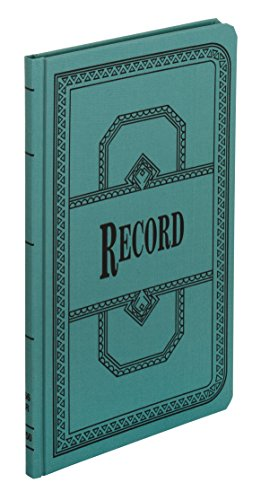(Boorum & Pease 66150R Record/Account Book, Record Rule, Blue, 150 Pages, 12 1/8 x 7 5/8 )