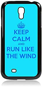 Keep Calm And Run Like the Wind-Hard Black Plastic Snap - On Case with Soft Black Rubber Lining-Galaxy s4 i9500 - Great Quality!