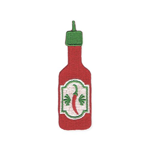 Zad Hot Tamale Hot Sauce Embroidered Iron On Patch Applique, Red