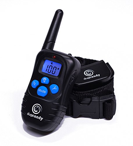 Dog Training Collar With Remote Control Rechargeable and Rainproof For Small To Large Dogs, Anti Bark Device With Tone / Vibration / Shock and Led Light, E-collars Barking 1000 Foot Range All-weather