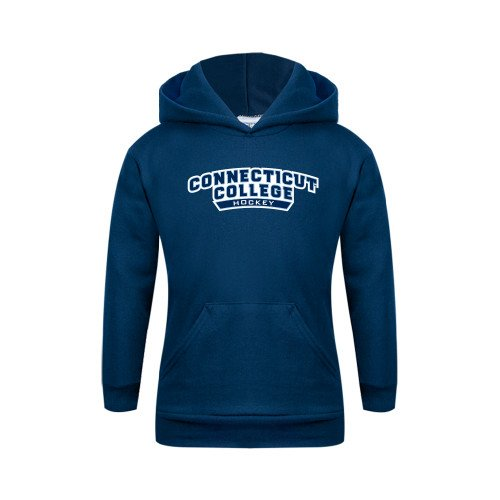New Connecticut College Youth Navy Fleece Hoodie 'Hockey' free shipping