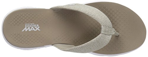 Flop Women's White Flip Skechers Taupe Vivacity Go The 400 Performance On 4wBqwag