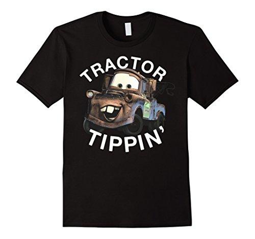 Mens Disney Pixars Cars 3 Mater Tractor Tippin' Graphic T-Shirt 2XL Black -