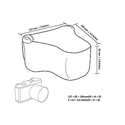 JJC Ultra-Light Neoprene Camera Case/Camera Pouch for Mirrorless and Point & Shot Cameras - Canon, Sony, Olympus, Fujifilm, Nikon, Panasonic