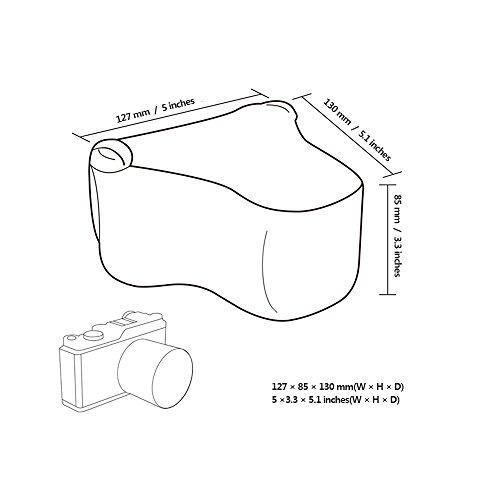 JJC Mirrorless Camera Case Ultra-Light Pouch Bag for Fuji Fujifilm X-T20 X-T10 X-A1 X-A2 X-A3 X-M1 X-E3 Canon EOS M5 Olympus E-M10II E-M5II E-PL8 with a lens up to 5x3.3x5.1 Gray