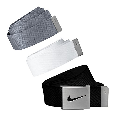 Nike 3-In-1 Web Pack Belts, Osfa, Grey ()