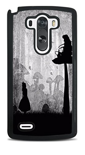 Trendy Accessories Alice in Wonderland Silhouette Design Print Black Hardshell Case for LG G3 (Lg G3 Caterpillar Case)