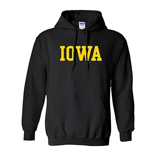 Iowa Hawkeyes Basic Hoodie - Small – Black (Iowa Hawkeyes Hoodie)