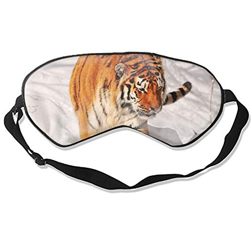 - Eye Mask Super Soft Tiger Climbing Snow Pattern Eye Mask Silk Sleeping Mask