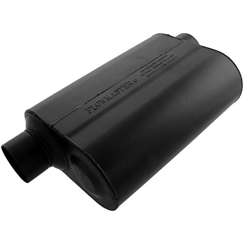 - Flowmaster 953049 Super 40 Muffler - 3.00 Offset IN / 3.00 Same Side OUT - Aggressive Sound