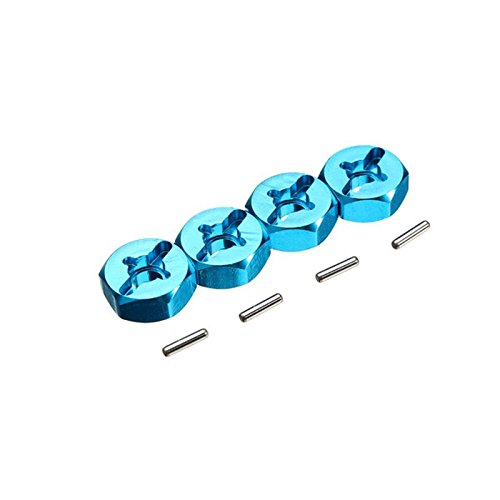 Hex Part (7mm To 12mm Adapter Remote Control Parts Aluminum Wheel Hex Adapter Hub for 1:18th Wltoys A949 A959 A969 A979 K929 RC Hobby Car 4-Pack)