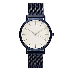 Charberry Unisex Classic Watches Quartz Dial Clock Analog Wrist Watch (Blue)